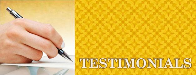 testimonials Testimonials